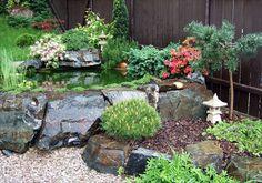 zahradní skalka s jezírkem - Hledat Googlem