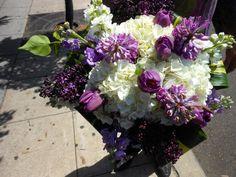 #whitehydrangea, #purpletulips, #hyacinth, #lilac, #whiteandpurplestock, #foldedtileaves  #flowerarrangement #impulsiveflowers #shoplocal #flowers #sales #pb #pacificbeach #lajolla #missionbeach #oceanbeach #ob #smallbusiness #sales #tropicalflowers #exotic #prettyflowers