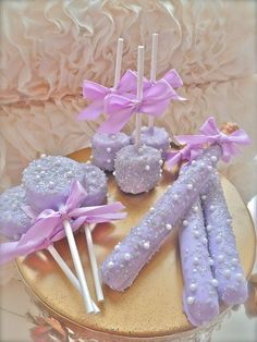 Complete Candy Buffet Frost The Cake Purple And Silver edible wedding favors