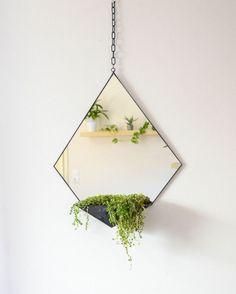 Geometric Mirror & Terrarium  Modern home decoration  Mirror