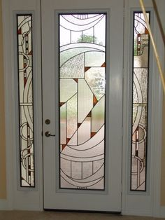 Stained Glass Door Designs With Art Deco Style Stained Glass Door, Glass Panel Door, Glass Front Door, Stained Glass Designs, Stained Glass Panels, Stained Glass Projects, Stained Glass Patterns, Leaded Glass, Mosaic Glass