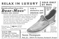 Norm Thompson Deer-Mocs 1960 Ad Picture
