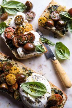 Caprese Burrata Garlic Bread   halfbakedharvest.com