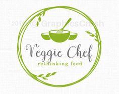 Food Blog Logo Food Logo Design Chef Logo by GraphicsCrush                                                                                                                                                     Más