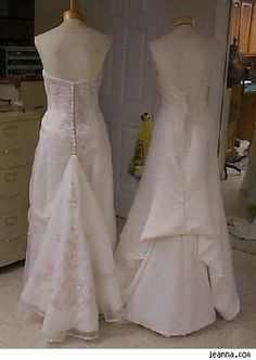 How To Make A Bustle On Wedding Gown Dress Train