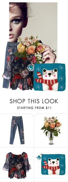 """shopsapphire.us"" by mileypiters ❤ liked on Polyvore featuring Nearly Natural"
