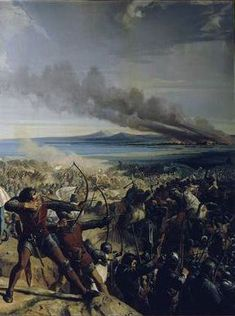 Battle of Montgisard Painting by Charles-Philippe Larivière