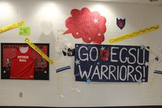 Residence halls show their spirit before the Fall Pep Rally!