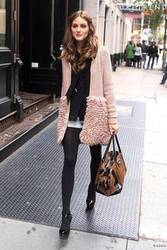 coat olivia palermo sweater