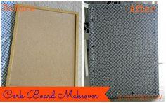 Cork Board Makeover (Using Fabric)
