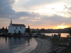 A beautiful little church by the sea in Gouvia on Corfu, Greece.