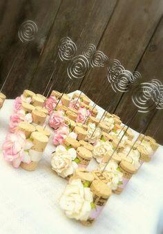 Vineyard Wedding Table Number Holders by KarasVineyardWedding