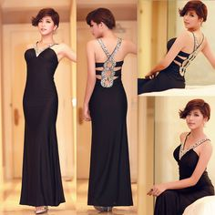 Super Sexy Bridesmaid Long Gown Evening Prom Party Dress Size 2 6 8 10 12 14 16 #GraceKarin #BallGown #Formal