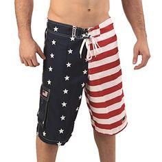 4th of july swim trunks