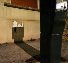 Very clever street art by OakOak in Saint-Étienne, France
