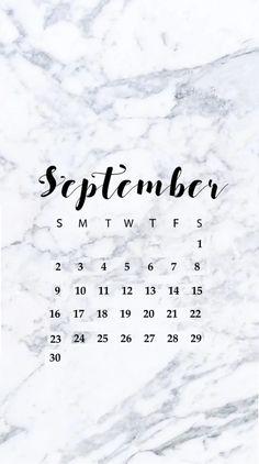 September 2018 iPhone HD Calendar