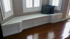 Banquette Bench for a Bay Window, kitchen seating, shaped bench, breakfast nook Banquette Seating In Kitchen, Dining Room Bench Seating, Built In Seating, Kitchen Benches, Banquette Bench, Kitchen Nook, Open Kitchen, Dining Rooms, Kitchen Ideas