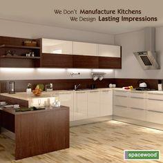 Modern Home Decor Kitchen Moduler Kitchen, Kitchen Modular, Modern Kitchen Cabinets, Kitchen Cabinet Colors, Open Plan Kitchen, Modern Kitchen Design, Home Decor Kitchen, Kitchen Furniture, Kitchen Interior