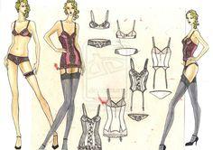 fashion drawings lingerie - Szukaj w Google