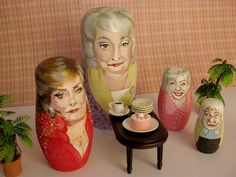 """Golden Girls Nesting Dolls"" Yes please!"