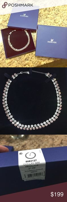 SALE!Swarovski Crystal Hot Vintage collar necklace Cannot pass up this deal! I'm selling it about  100$ cheaper then it values used but this is brand new!!! Swarovski Crystal Hot Vintage collar necklace. Absolutely beautiful! BRAND NEW, never been  worn with box and sleeve. My husband got it from Reeds jewelers for 260. I could only find it now (used) on eBay for 199 and I am willing to sell it cheaper than that! It is two-row design with clear crystal on top row and vintage rose on bottom…