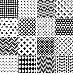Black and white seamless patterns royalty-free stock vector art Geometric Pattern Design, Graphic Patterns, Doodle Patterns, Zentangle Patterns, Pattern Drawing, Pattern Art, Textures Patterns, Fabric Patterns, Dibujos Zentangle Art