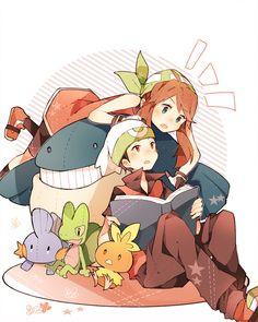 Haruka and Yuuki with Pokemon Plushies <3