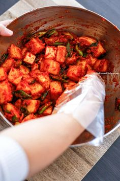 How to make authentic Korean cubed radish Kimchi (KKakdugi) | MyKoreanKitchen.com
