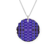 Blue Black abstract necklace #cafepress #necklace #jewelry