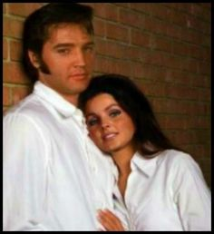 Elvis and Priscilla during a family photo shoot. Love this!!!