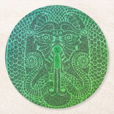 Multi-custom Dragon Paper Coaster verdigris black Dragon Egg, Green Dragon, Feng Shui Tattoo, How To Make Coasters, Fifth Element, Green Jeans, Time Warp, Navy And Green, Dog Design