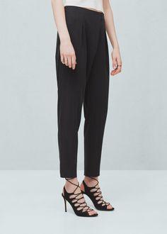Soft fabric trousers   MANGO