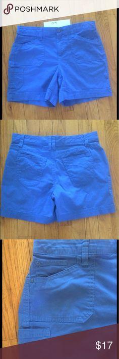 "GLORIA VANDERBILT BLUE STRETCH DENIM SHORTS So cute! These blue stretch denim shorts are from Gloria Vanderbilt. 6 pockets! (One on side.) Button/zip closure. Decorative stitching on back pockets. Waistband has wide elastic inside for ease of movement. Flat/unstretched: waist 15"", rise 9"", inseam 5 1/2"". 98cotton/2spandex. 6P Gloria Vanderbilt Shorts"