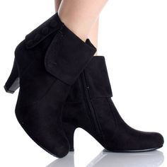 Gray-Velvet Pointy Toe Studded Chunky Womens High Heel Ankle Boots ...