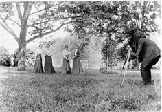 Margaret Greever, born 1879, second from left, being photographed with sisters or friends at the Greever homeplace in Burke's Garden, VA June 28, 1899.