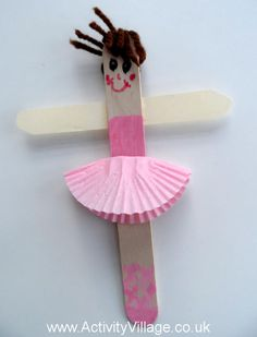 Craft Stick Ballerina