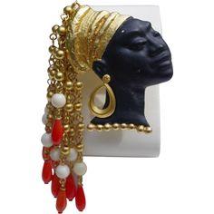 A signed Askew London Blackamoor Nubian Princess Brooch Pin from vespers-smashing-things on Ruby Lane