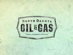 North Dakota Oil & Gas #Identity #Logo #Design #Branding #Vintage #Retro