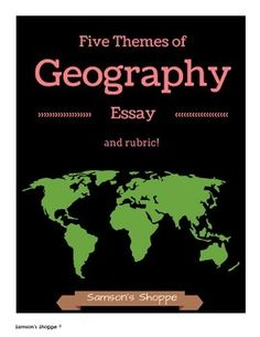 Essay/Term paper: The five themes of geography