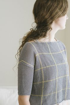 zara designed by dianna walla / from the sparrow 2016 design team collection / in quince & co. sparrow, colors moon and maize