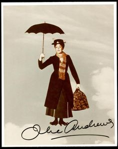 Julie Andrews and Mary Poppins