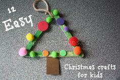 Easy Christmas Crafts for Kids – 12 easy, inexpensive Christmas Tree . Easy Christmas Crafts For Toddlers, Childrens Christmas, Preschool Christmas, Noel Christmas, Toddler Crafts, Simple Christmas, Holiday Crafts, Christmas Ornaments, Homemade Christmas