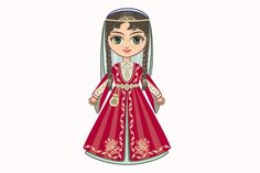 The girl in Chechen dress. Historical clothes. Chechnya. By Zoya Miller