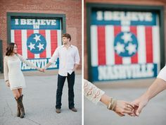 Love the idea of a wedding in fron of this mural!◦ LESLIE & MIKE | KRISTYN HOGAN