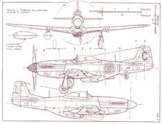 Details about North American Mustang - Blueprint Poster,