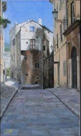 Rue Bastia  Huile sur toile