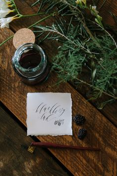 Blackberry ink | Written Word Calligraphy