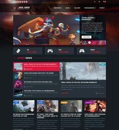 Finest Game Website Template Gamers Pinterest Template - Gaming website template