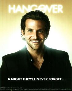 The Hangover Movie Bradley Cooper A Night Theyll Never Forget Poster Print Masterprint MasterPoster  @ niftywarehouse.com #NiftyWarehouse #Hangover #TheHangover #Movies #Comedy
