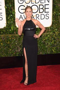 Jennifer Aniston In Saint Laurent.   - Golden Globe Awards 2015
